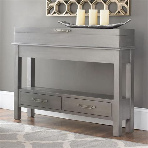 sleek narrow storage console