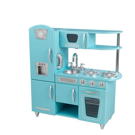 cuisine vintage kidkraft kidkraft blue vintage kitchen play set 53227 the home depot