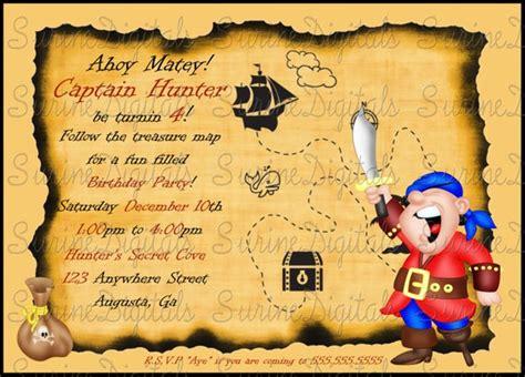 pirate birthday invitation treasure map party