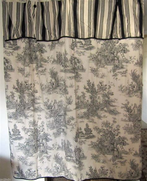 waverly country toile black w striped