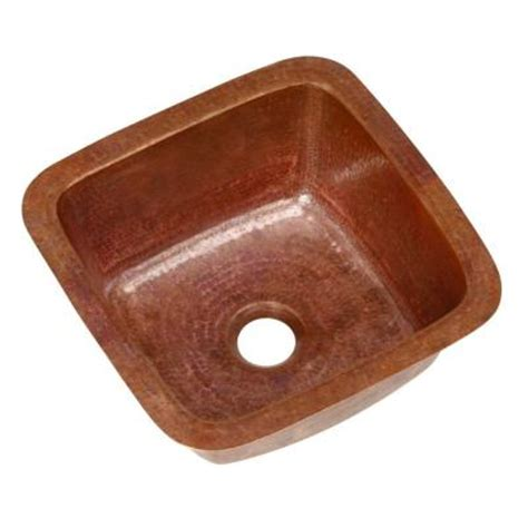 home depotca bar sink sinkology pollock undermount handmade solid copper 12
