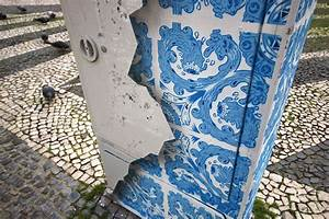 Ceramic tile illusion painted on a boring electrical box for Ceramic tile illusion painted on a boring electrical box in lisbon