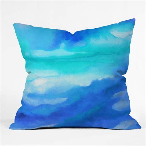 wayfair blue decorative pillows deny designs jacqueline maldonado rise throw pillow