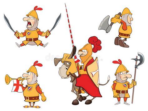 Illustration Of Humor Cartoon Knights Stock Vector