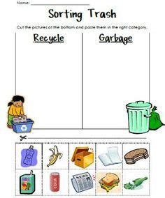 sorting trash an earth day lesson kindergarten