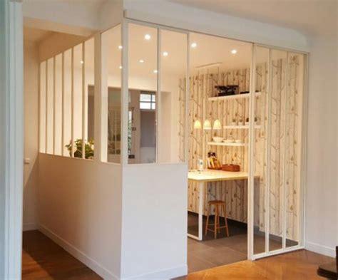 porte de cuisine en verre defi métallerie conception de vérandas et de verrières d