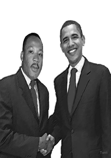 """Dr Martin Luther King and Barack Obama"" by Turri 