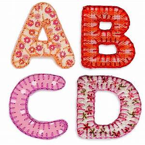 Alphabet letters to iron on by pink pineapple home gifts for Applique letters