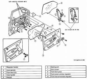 1996 Mazda Protege Driver Door Latch Repair Diagram