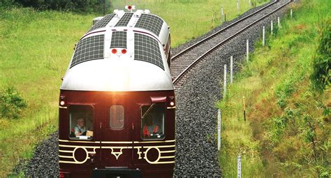 worlds   solar powered train launches