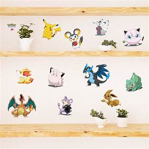 cartoon pokemon go wall stickers for kids rooms pikachu With pokemon wall decals