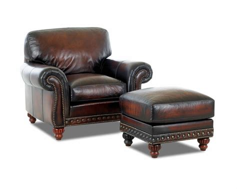 Wood And Leather Chair With Ottoman by Decor Leather Club Chair For Home Furniture Ideas