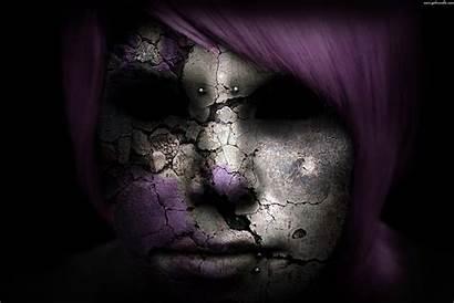 Dark Wallpapers Gothic Goth Face Cracked Desktop