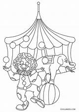 Circus Coloring Pages Theme Printable Sheet Onlinecoloringpages sketch template