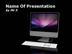 computer screen over a black background powerpoint template With powerpoint templates computer theme