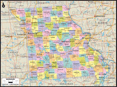 map  missouri  counties  travel information