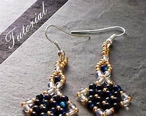Diy Beading Pattern Cleopatra Earrings    Pdf Tutorial With