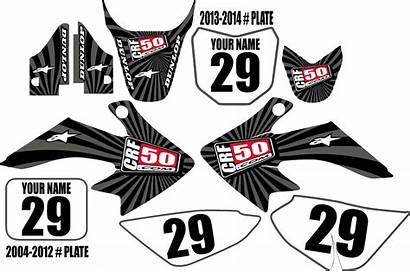 Crf50 Kit Graphic Gray Swirl Series Graphics
