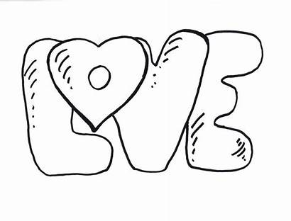 Coloring Pages Word Heart