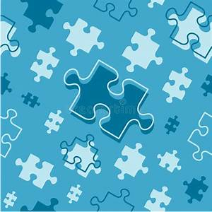 Seamless (repeatable) Puzzle Pieces Pattern Stock ...