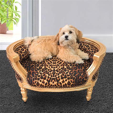 Canapé Lit Pour Chien Ou Chat Baroque Tissu Leopard Et