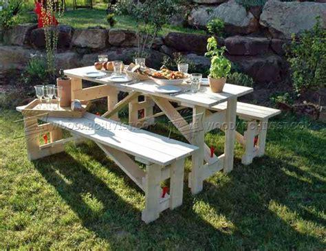 Folding Picnic Table Plans • Woodarchivist