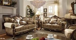 Homey Design 7-pc Italian Style Traditional Living Room