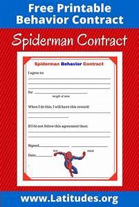 Free Spiderman Behavior Contract Acn Latitudes