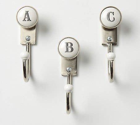 alphabet hooks  marvelous monogram decor items