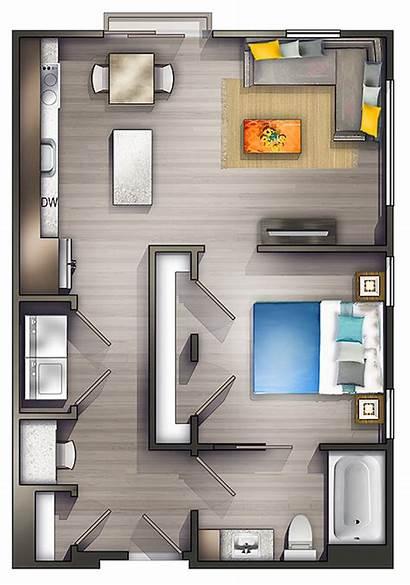 Apartment Studio Layout Bedroom Floor Plan Plans