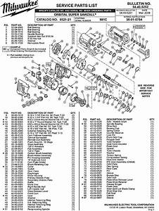 Milwaukee 6521-21 981c Parts