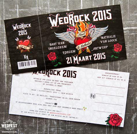 wedrock rock  roll wedding invitations wedfest
