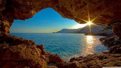 Cave Sea Desktop 4k Amazing Sunset Nature