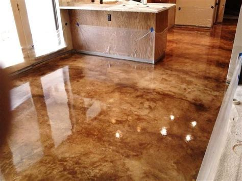 Indoor concrete flooring photos