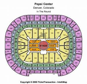 Pepsi Center Map Concert