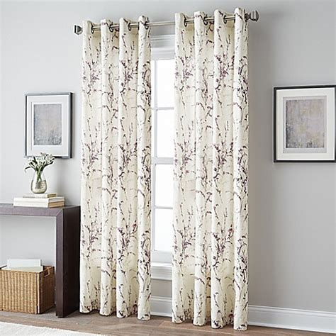 curtains bed bath and beyond botanical grommet top window curtain panel bed bath beyond