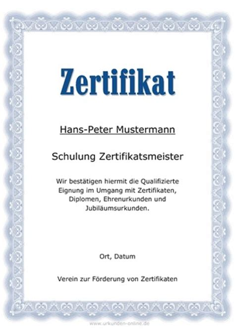 zertifikate selbst erstellen downloaden und ausdrucken