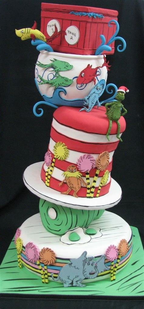 dr seuss cake amazing topsy turvy dr seuss cake between the pages