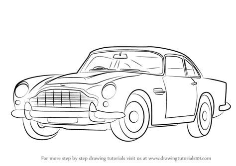 Step By Step How To Draw Aston Martin Db5 Aka James Bond