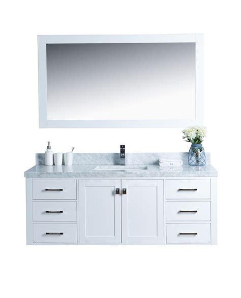 Abigail 60 Naos White Shaker Style Wall Mount Vanity
