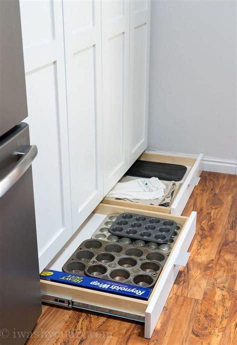 build  toe kick drawer diy projects