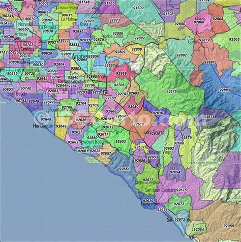 Garden Of The Gods Sacramento Zip Code by Orange County Ca Zip Codes Orange Zip Code Boundary Map