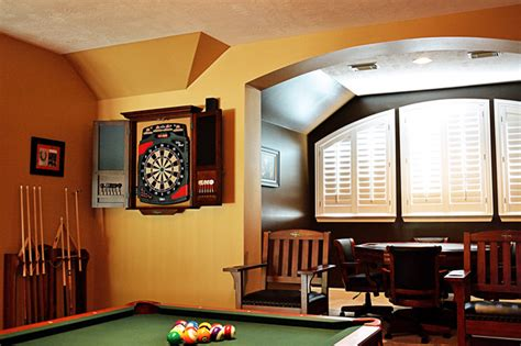 Brunswick Game Room In Houston, Texas Transitional