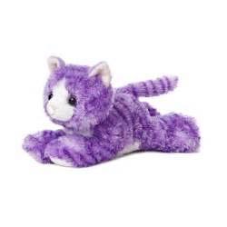 purple cat molly the stuffed purple tabby cat mini flopsie by