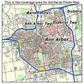 Aerial Photography Map of Ann Arbor, MI Michigan