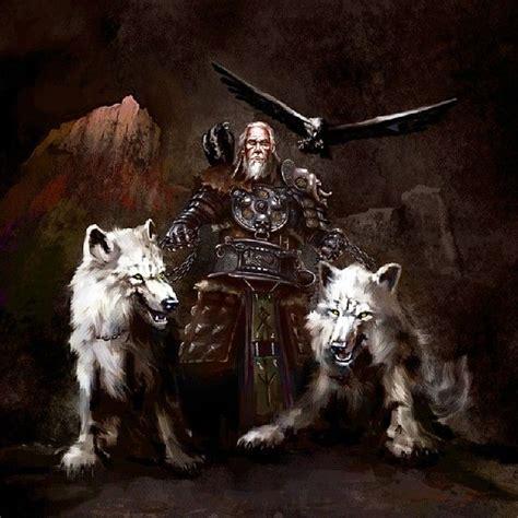 allfather odin   wolves  ravens