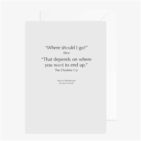 alice  wonderland quote letterpress card  reverie