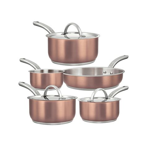 piece multi ply clad stainless steel cookware sets dealzfrenzy