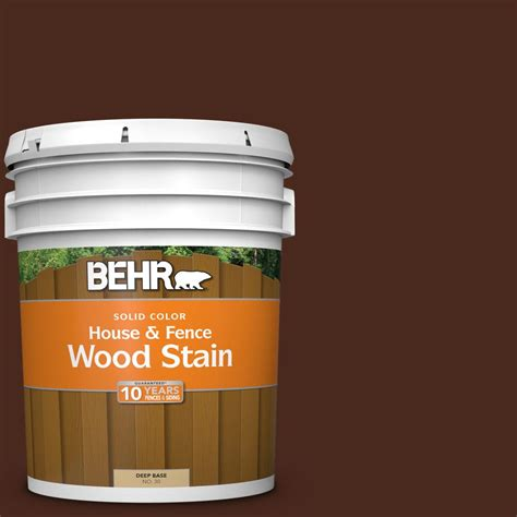 behr  gal sc  russet solid house  fence exterior