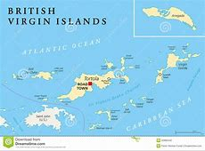 British Virgin Islands Political Map Stock Vector Image